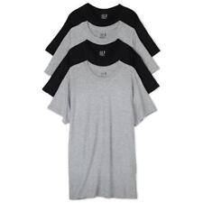 Fruit Of The Loom 4PACK Mens T-Shirt Crew Neck Cotton Comfortable Black / Grey