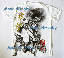EMPEROR ETERNITY T-Shirt White M L XL ORIENTAL WARRIOR SAMURAI ONI GOLD RED FOIL