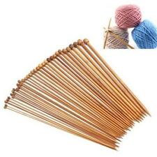 PAIR 25 CM'S CARBONIZED SMOOTH BAMBOO SINGLE POINT KNITTING NEEDLES,IN 18 SIZES