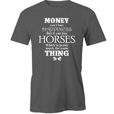 Money Cant Buy Happiness But It Can Buy Horses T-Shirt horse Animal