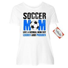 Inktastic Soccer Mom Like A Normal Mom But Louder And Women's Plus Size T-Shirt
