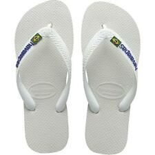 Havaianas Brasil Logo Kids White Rubber Infant Flip Flops Sandals