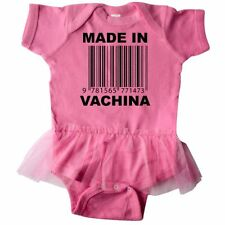 Inktastic Made In Vachina Funny Infant Tutu Bodysuit Barcode Humor Sayings Baby