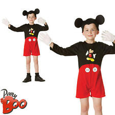 Mickey Mouse Boys Fancy Dress Classic Disney Character Kids Childrens Costume