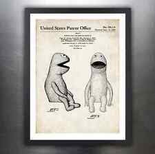 KERMIT THE FROG MUPPET JIM HENSON PUPPET 1959 PATENT ART PRINT POSTER GIFT DOLL