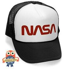 NASA Logo Embroidered Baseball Cap Snapback Patched Mesh Back Trucker Hat Colors