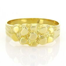 New Solid 14K Yellow Gold Nugget Style Ring Band (Available in Sizes 5.5  - 7.5)
