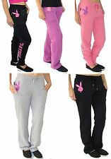 Playboy Womens Tracksuit Bottoms Joggers Ladies Lounge Pants NEW