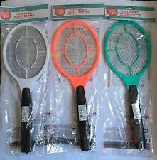 NEW ELECTRIC FLY INSECT KILLER SWAT SWATTER BUG MOSQUITO WASP ZAPPER RACKET - UK