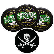 Smokey Mountain Herbal Snuff / Chew- 3ct Wintergreen POUCHES & DC Skin Can Cover