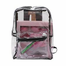 PVC Transparent Backpack Waterproof Backpack Summer Clear Jelly Bag Students EW