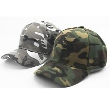 Unisex Mens Camo Baseball Cap Military Hunting Outdoor Hat Camouflage Adjustable
