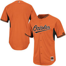 Baltimore Orioles Authentic Cool Base  BP Jersey-By Majestic - Orange