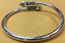Lotus Bracelet Bangle Cuff 925 Sterling Silver Jewelry Women Womens Bali Fashion