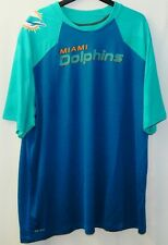 MIAMI DOLPHINS DT EARL MITCHELL NFL NIKE DRI-FIT GAME USED SHIRT  Size 3XL