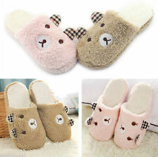 Indoor Home Warm Plush Animal Slippers Men Soft Antiskid Cute Winter Women Bear