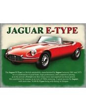 metal plate JAGUAR E TYPE RED car sport luxe Red New enamel plate