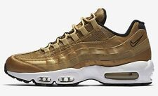Nike AIR MAX-95 PREMIUM QS MEN'S SHOES,GOLD/BLACK/WHITE-Size US 9,9.5,10 Or 10.5