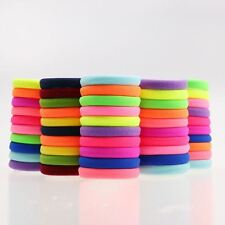 20pcs/lot Candy Fluorescence Colored Hair Holders High Quality Rubber Bands Hair