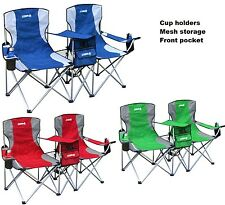Camping Folding Double Chair Portable Seats Beach Fishing Travel Yard Furniture