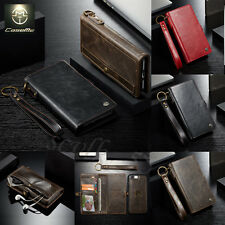 Genuine Leather Removable Wallet Magnetic Flip Card Case Cover iPhone 6S/7 Plus