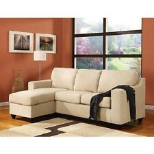 Microfiber Sectional Sofa Reversible Modern Living Room Furniture Couch w Chaise