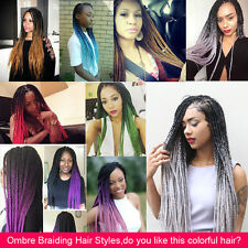 "24"" Long Kinky Twist Kanekalon Jumbo Synthetic Ombre Braiding Hair Extensions"
