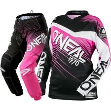 NEW Oneal 2018 MX Element Black Pink Jersey Pants Womens Motocross Gear Set