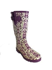 RABEN GUMBOOTS/WELLIES/RAINBOOTS PURPLE BABUSHKA
