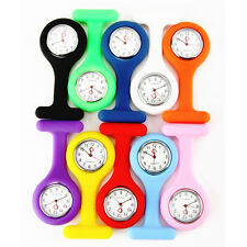 Pocket Silicone Nurse Brooch Tunic Fob Portable Watch Kids Round Dial Number New