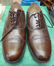 QUALITY MENS BROWN LEATHER CLARKS  LACE UP SHOES FORMAL WORK WEDDING