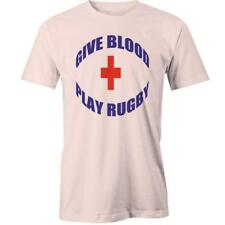 Give Blood Play Rugby T-shirt Funny Footy Football Joke Tee New
