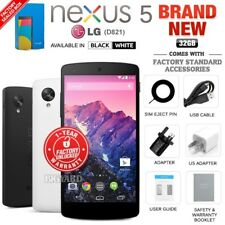 New Factory Unlocked LG GOOGLE NEXUS 5 D821 32GB Black White Android Cell Phone