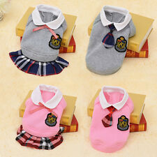 Pet Suit School Small Dog Clothes Puppy Coats Jackets Teddy Shirts Costume Gift