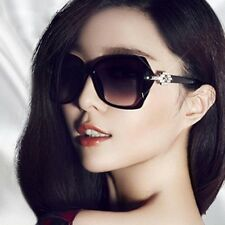 High Fashion Women Sunglasses Oversized Black Red White With Purple Tint NEW