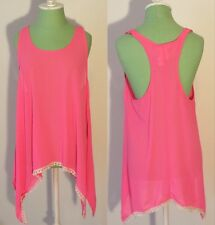 NEW - WOMEN'S AGGIE TANK TOP/TUNIC BLOUSE - Coral - SIZES SMALL AND MEDIUM - NEW