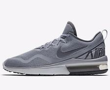 Nike FLYWIRE AIR MAX FURY MEN'S RUNNING SHOES,GREY/STEALTH- US 11.5, 12 Or 12.5