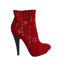 WOMENS LADIES PLATFORM HIGH STILETTO HEEL STUDDED SEQUIN ANKLE BOOTS SIZE 3-7
