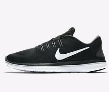 Nike FLYWIRE FLEX 2017 RN MEN'S RUNNING SHOES, BLACK/WHITE- US 8.5, 9, 9.5 Or 10