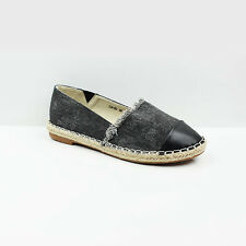 NEW WOMENS LADIES FLAT SLIP ON CANVAS ESPADRILLES PUMPS LOAFERS SHOES SIZE 3-8