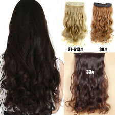 Curly Clip In Hair Extensions Women Long Wavy Synthetic Clip In Hair Extensions