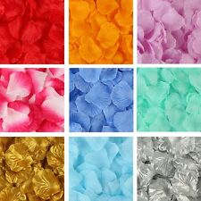 100 pcs Silk Rose Flower Petals Engagement Wedding Decoration Confetti Table uk