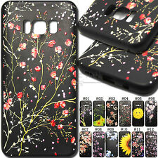 For Samsung S8 Silicone Soft With Strap Embossed Case Rubber Black TPU Cover