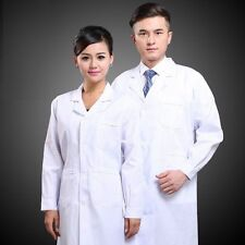 New Mens Womens White Lab Coat Scrub Medical Doctor's Jacket DG003