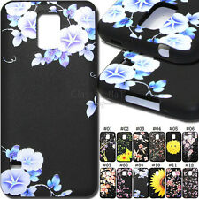 For Samsung S5/G900 Silicone Cute Case Cover Black TPU Soft Rubber Embossed Skin