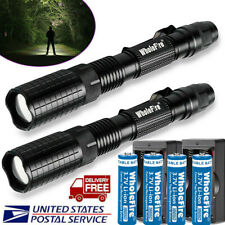 Tactical Police 12000Lumens XML T6 5Modes LED Flashlight Aluminum Torch Zoomable