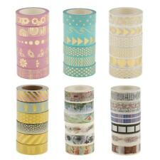 6 Rolls Gilding Washi Tape Decorative Sticky Paper Masking Tape for Scrapbooking