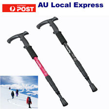 Hiking Trekking Poles Anti Shock Walking Stick Camping Adjustable Lightweight BS