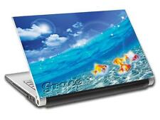 Gold Fish Sea Personalized LAPTOP Skin Decal Vinyl Sticker ANY NAME Ocean L495