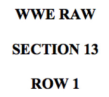 2 TICKETS - WWE RAW AFTER SUMMERSLAM - BARCLAYS CENTER - MONDAY 8/21/17